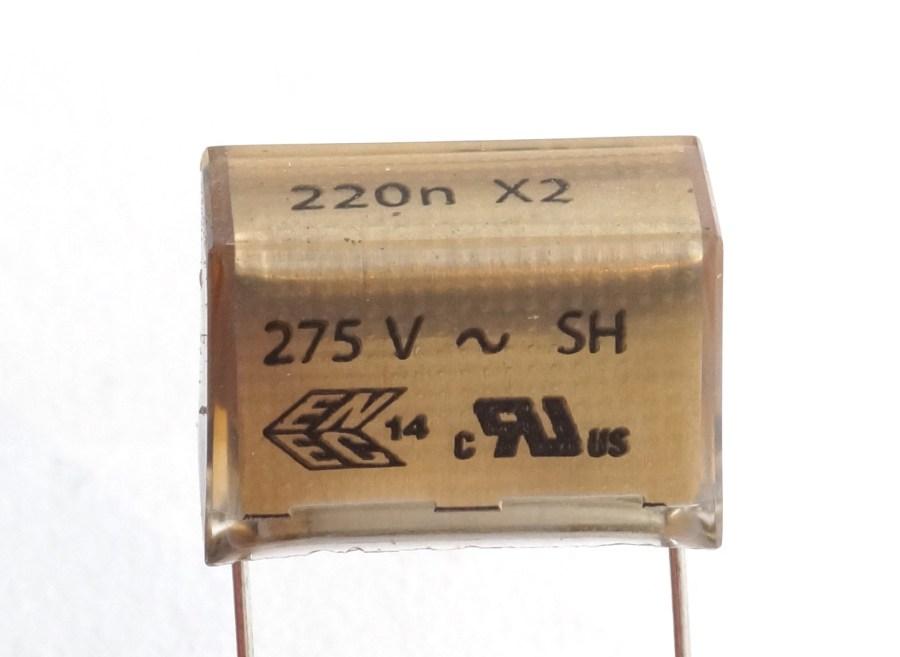 Condensateur 220nF papier métallisé pour gradateur DIGITOUR ROBERT JULIAT