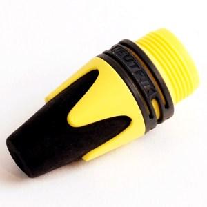 BXX4 - Serre-câble jaune et noir pour NEUTRIK série XX
