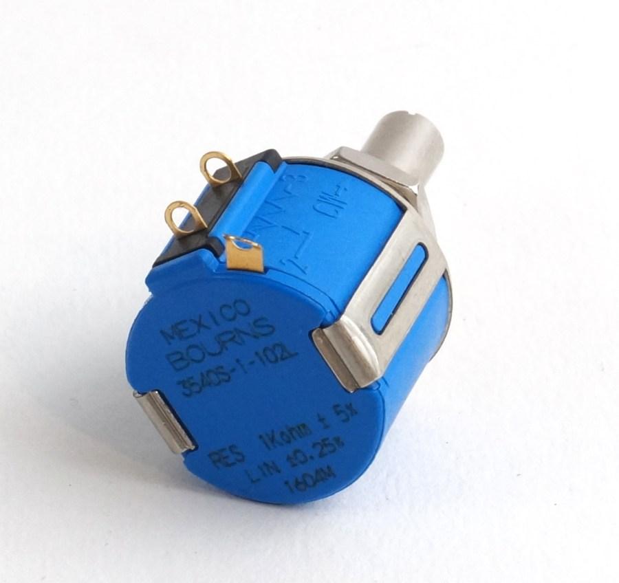 Potentiomètre Rotatif 1kΩ Bourns 10 tours Montage panneau 6,35 mm ±5% 1 série 3540