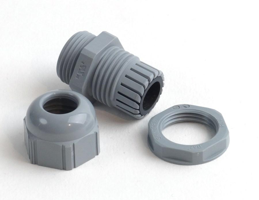 Presse-étoupe PG 11 en Polyamide pour câble de 4mm à 10mm, avec contre-écrous, IP68