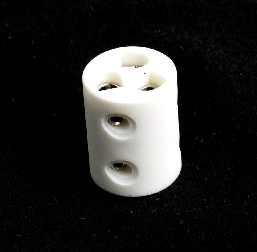 Domino porcelaine ME06200601 - 3 PLOTS RONDS 6mm 3033 pour projecteurs ROBERT JULIAT