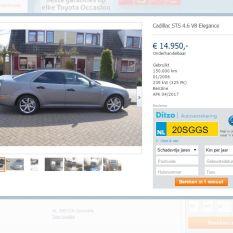 Foto van autoscout24, nieuwe kleur van de auto.
