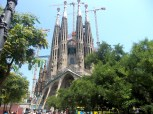 In 2011 net zoveel bedrijvigheid bij de Sagrada Familia als in 2017 (foto: R.J. van Amstel)
