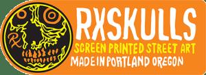 Rx Skulls Street Art Portland