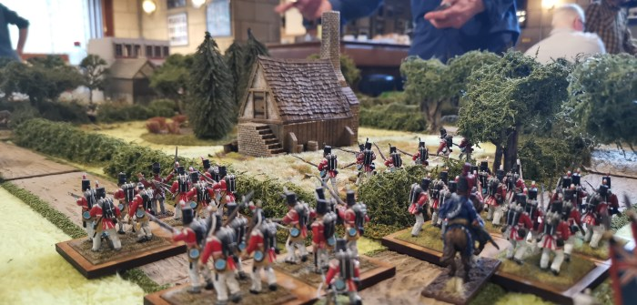British advancing on the Wies'n