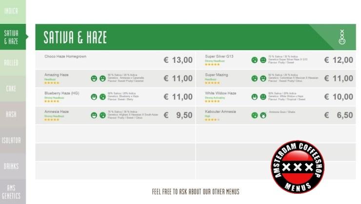 Coffeeshop boerejongens west menu