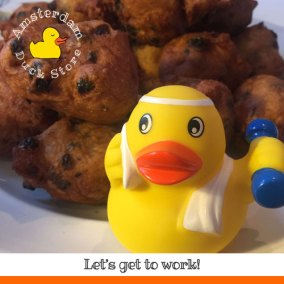 Our resolution? Gettig rid of those traditional Dutch New Year's oliebollen pounds.