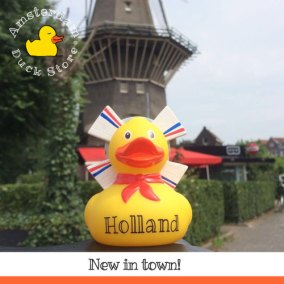 Proud to introduce: our brand new Holland Duck! With typical Dutch windmill and flags