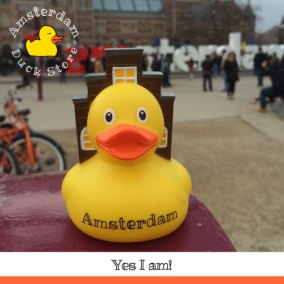 Amsterdam Rubber Duck In it's natural environment @ I Amsterdam letters, Museumplein