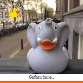 Elephant rubber duck Herengracht Amsterdam Duck Store