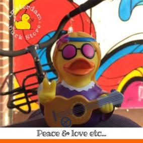 Hippie rubber duck Het Spui Amsterdam Duck Store