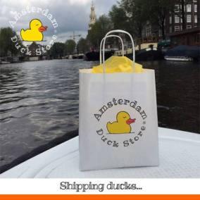 Shipping rubber ducks Amsterdam Duck Store