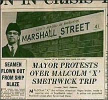 African Diaspora in the UK install plaque for Malcolm X (36698)