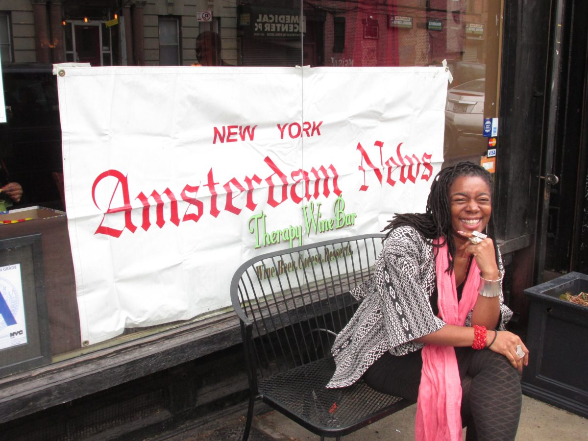 New York Amsterdam News editor Nayaba Arinde will be at Therapy Wine Bar in Brooklyn until 5pm today. (127225)