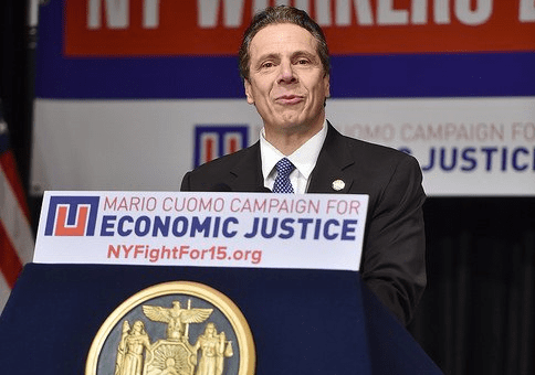 Governor Andrew M. Cuomo unveils the first signature proposal of his 2016 agenda – his push to restore economic justice by making New York the first state in the nation to enact a $15 minimum wage for all workers. (181367)