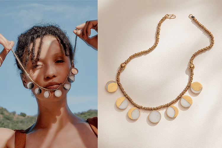 The Moon Phase Necklace collection of Pamela Love with Kyleigh Kuhn (293355)