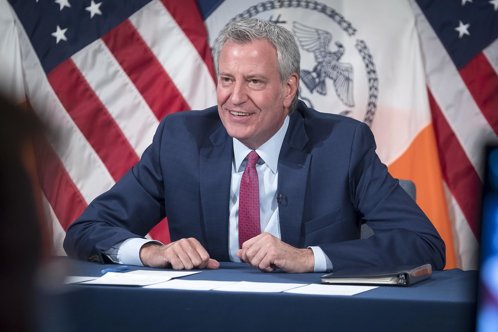Mayor Bill de Blasio holds a media availability with Deputy Mayor J. Phillip Thompson, Strategic Policy Initiatives and Executive Director Sideya Sherman, Task Force on Racial Inclusion and Equity. City Hall. Thursday, June 17, 2021. (305701)