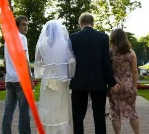 The divorce lawyers could hardly wait till the wedding was over