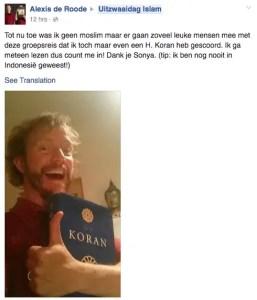 Uitzwaaidag Islam reactions