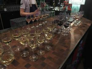 Wine being served at the Butcher Social Club