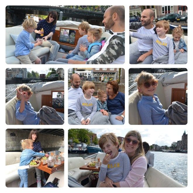 Amsterdam with kids - Children enjoying a Pure Boats cruise on the Amsterdam canals