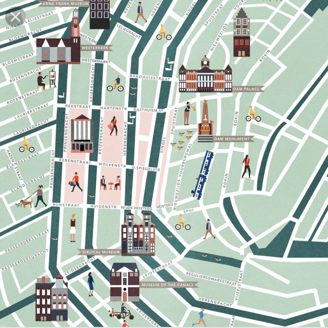 Map of where to eat in Amsterdam's 9 Streets or Negen Straatjes