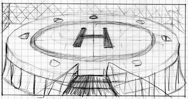 Hangar souterrain - Croquis