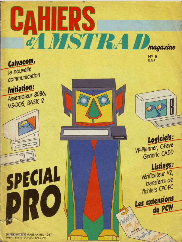 Les cahiers d'amstrad magazine n°08