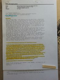 """Letter to Orrin after being at his home and talking with Laurie and then him the next morning. When I spoke with him about George and speaking at open meetings he said the same as you'll see in the next post....""""go Ruby and point out discrepancies to George"""". He did nothing to make things fair. We missed Ruby by one case @ 9900 volume while our downline were roughly @ 6, 000 or less points and...t...See More"""
