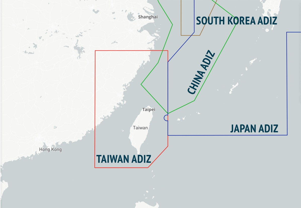 Air Defense Identification Zones over the East China Sea