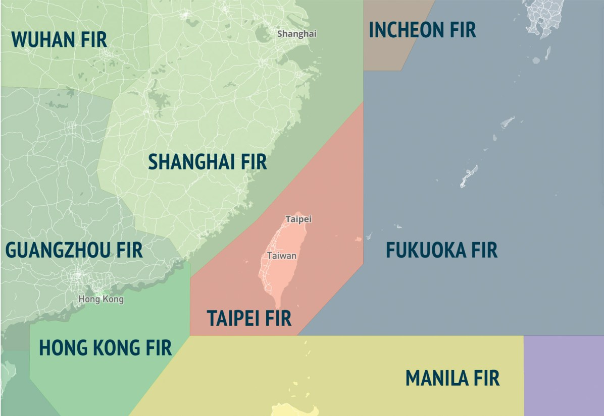 Flight Information Regions of East Asia