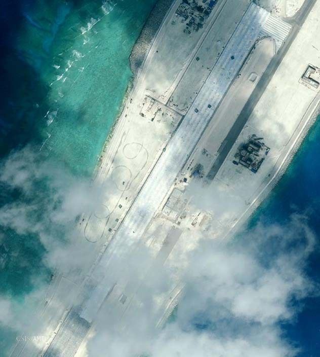 The center portion of the Subi Reef runway as of January 8.