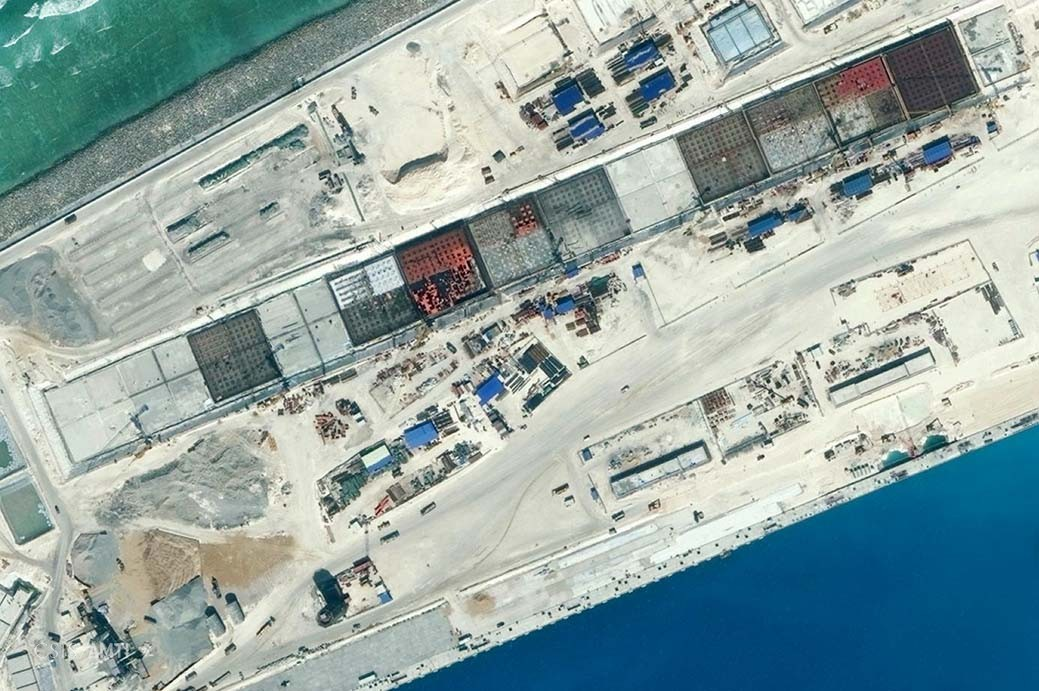 Main Infrastructure of Subi Reef.