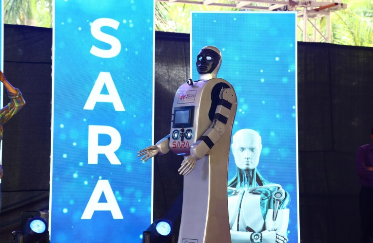 UNVEILING OF SARA, A LIFE-SIZED HUMANOID ROBOT