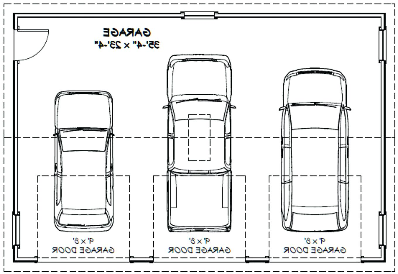 3 Car Garage Dimensions