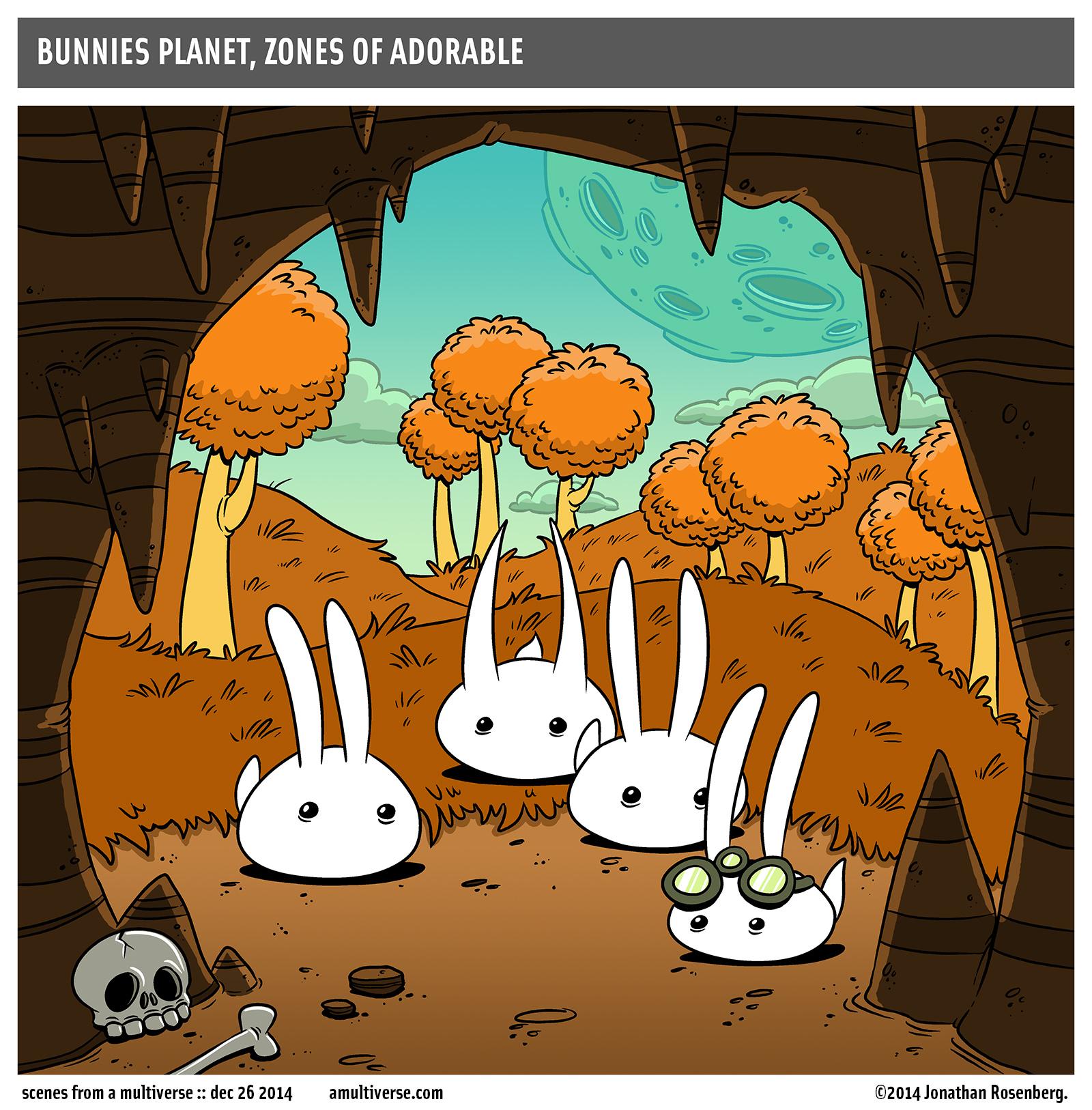 bunnies love to spelunk