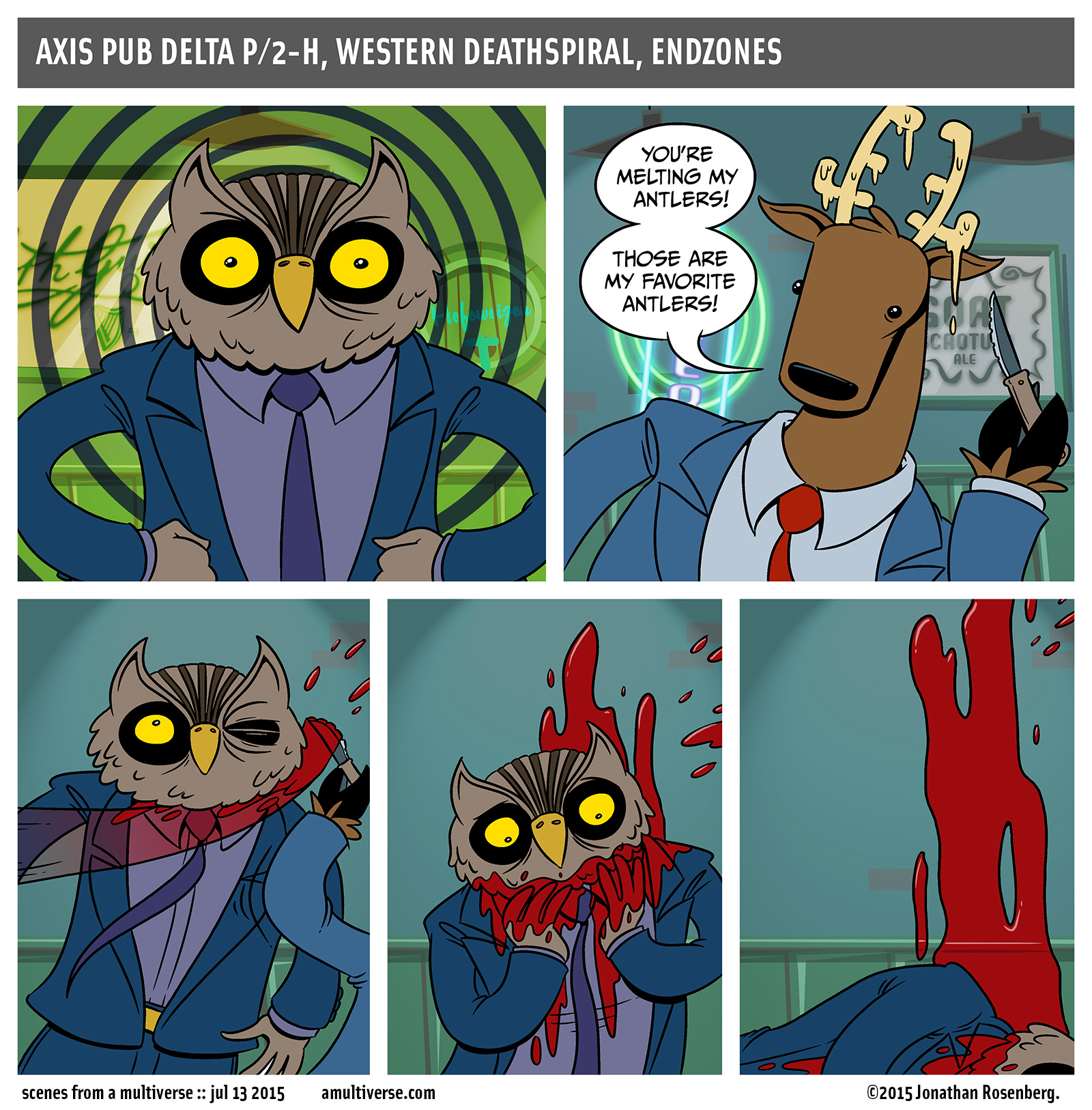 r.i.p. horace greenstein, scary owl lawyer