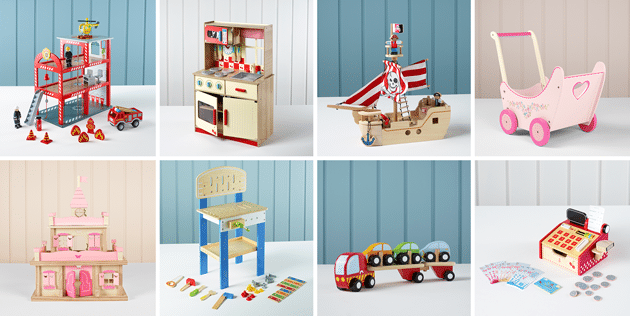 Have You Seen The New George Home Wooden Toy Range At ASDA