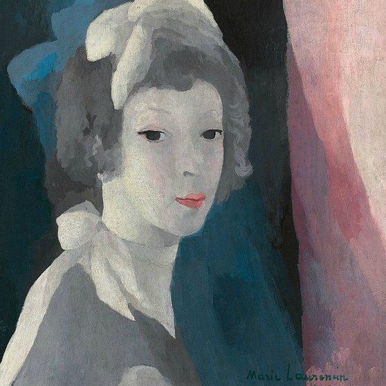 Автопортрет (фрагмент), Мари Лорансен, 1928