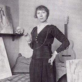 Марі Лорансен у 1916 році (фрагмент світлини)