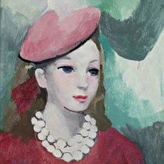 Дівчина у рожевому береті, Марі Лорансен, близько 1940-1956