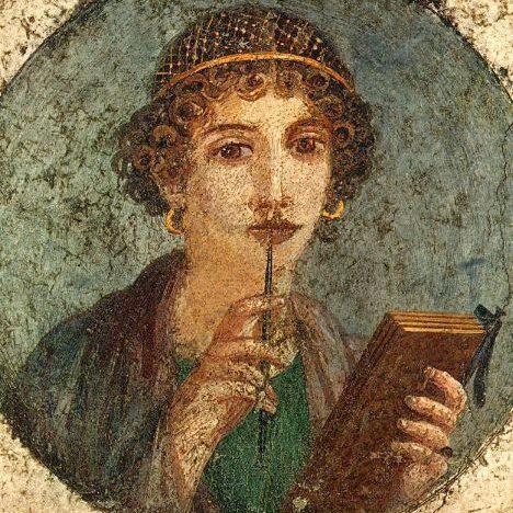 Фреска с портретом молодой женщины, I в., Помпеи
