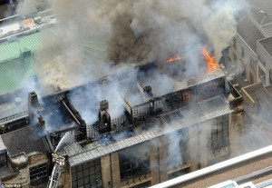 Incêndio na Glasgow School of Art. 23 maio 2014
