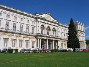 Fachada nascente do palácio Foto: Osvaldo Gago, 2005.