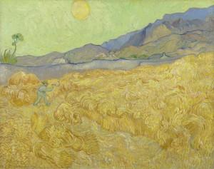Campo de trigo com ceifeira Vincent van Gogh, 1889 Foto: Museu Van Gogh