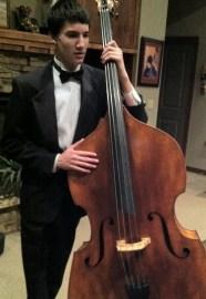 Kory and his bass violin