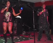Mz Blue performing