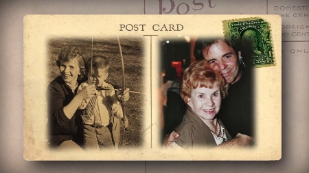 Jim Wilson postcard with Mom