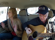 Paula and Mark in Jeff's Musical Car