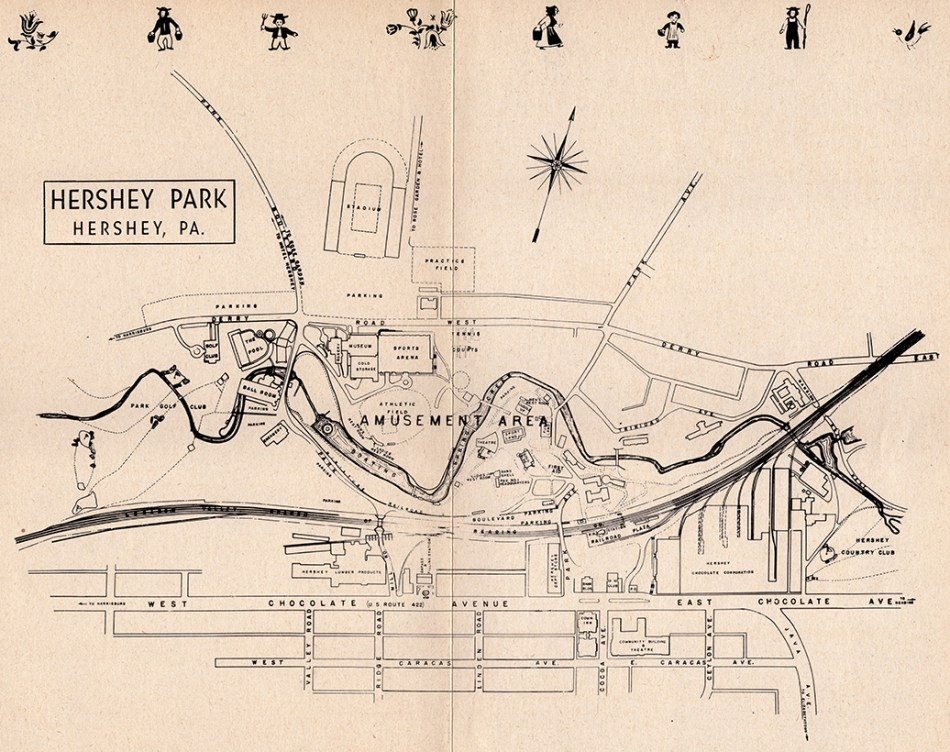 1951 PaDD Hershey Park map